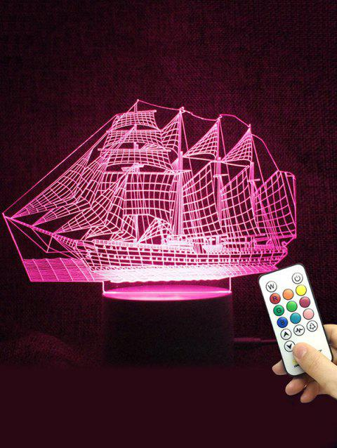 Ship Shape Color Changing LED Night Light - TRANSPARENT