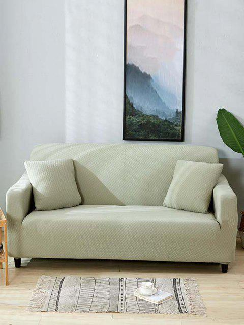 Solid Color Waterproof Couch Cover - LIGHT CYAN TWO SEATS