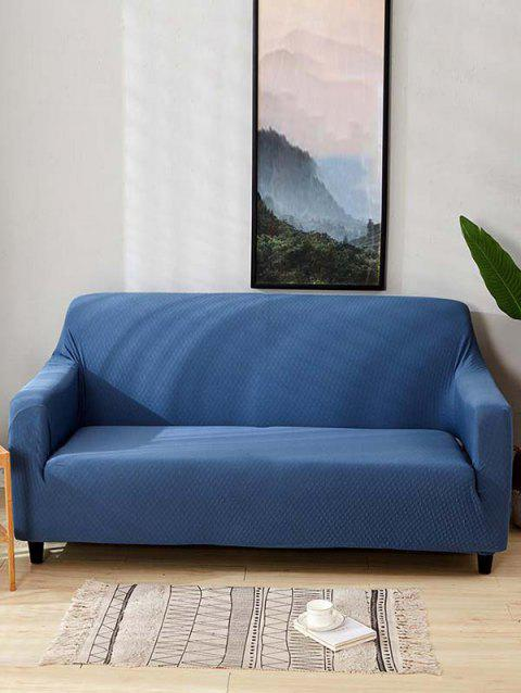 Solid Color Waterproof Couch Cover - LAPIS BLUE TWO SEATS