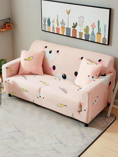 Cartoon Animals Print Stretch Couch Cover - ROSE TWO SEATS