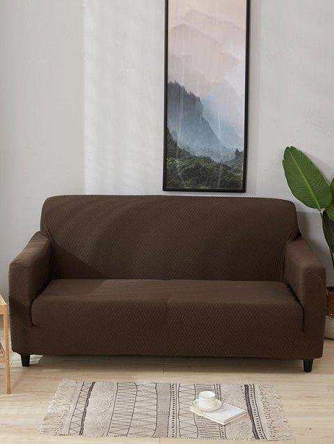 Solid Color Waterproof Couch Cover - BROWN SUGAR TWO SEATS