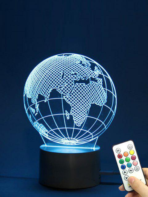 The Earth Shape Color Changing LED Night Light - TRANSPARENT