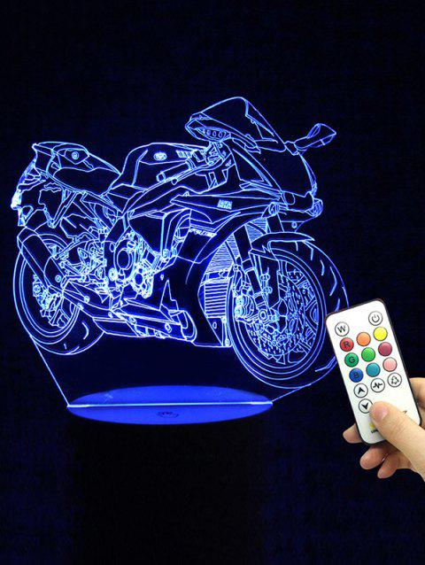 Motorcycle Shape Remote Control Color Changing LED Night Light - TRANSPARENT