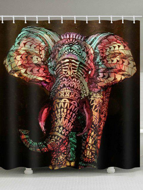 Elephant Print Design Shower Curtain - multicolor W79 X L71 INCH