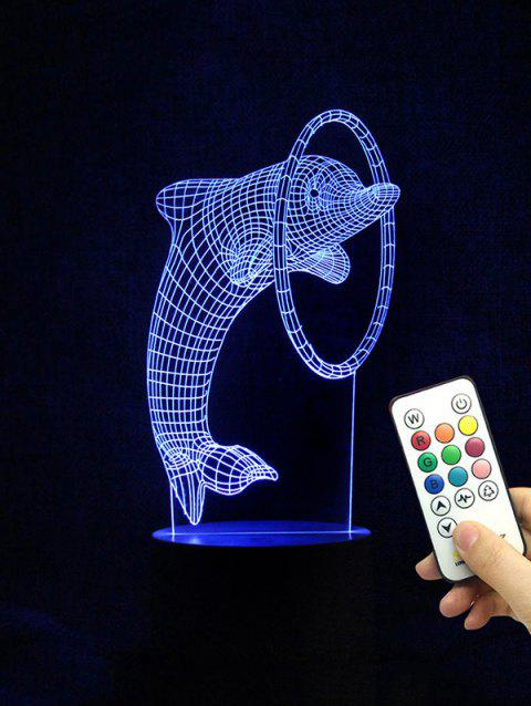 Dolphin Shape Color Changing LED Night Light - TRANSPARENT