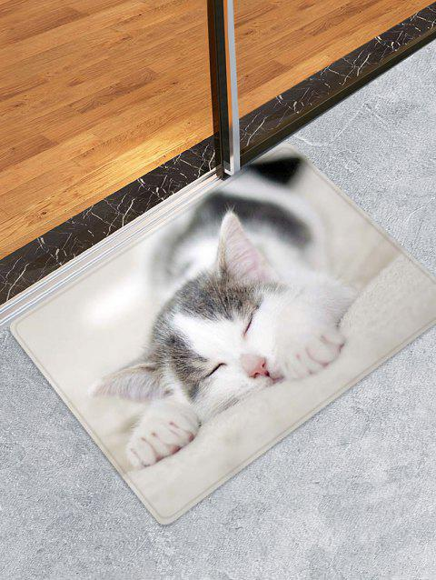 Kitten Design Floor Mat - CRYSTAL CREAM W24 X L35.5 INCH