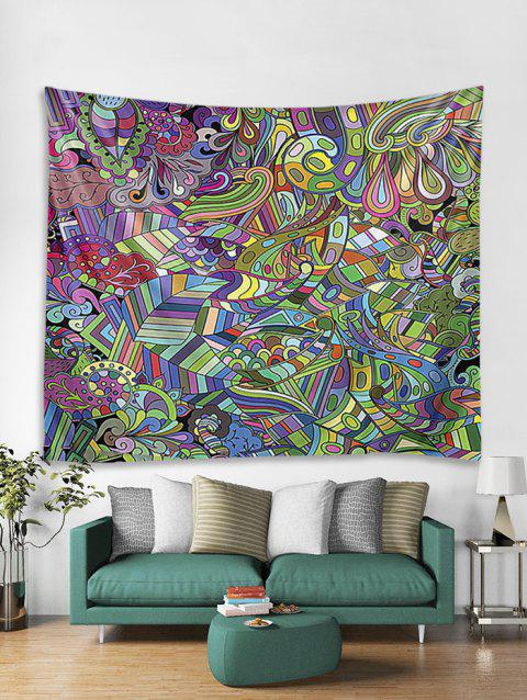 Abstract Pattern Print Wall Tapestry - multicolor W59 X L79 INCH