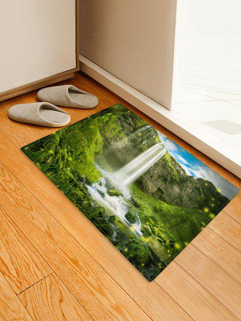 Forest Pattern Flannel Floor Mat - multicolor A W16 X L24 INCH