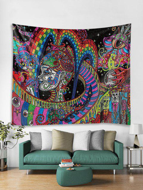 3D Print Abstract Style Wall Tapestry - multicolor W59 X L79 INCH