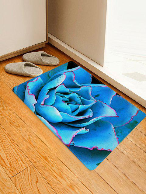 Flower Pattern Flannel Floor Mat - multicolor A W16 X L24 INCH
