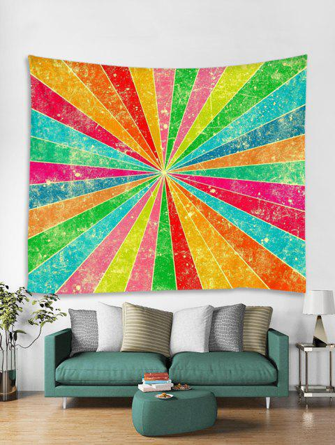 Geometric Pattern Wall Tapestry - multicolor W59 X L59 INCH