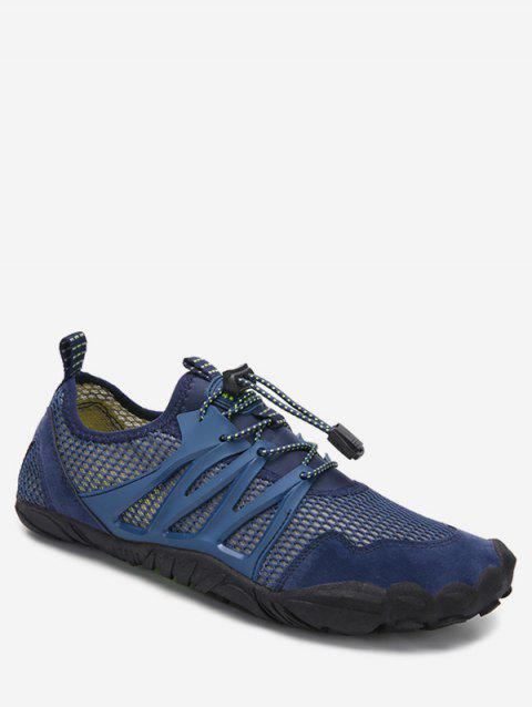 Mesh Breathable Casual Flat Shoes - BLUE EU 45