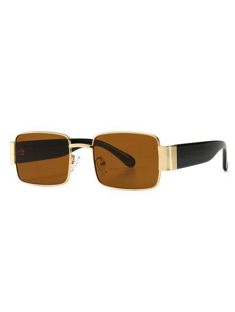 Punk Style Square Shape Sunglasses - BROWN