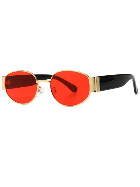 Punk Style Oval Shape Sunglasses - RED