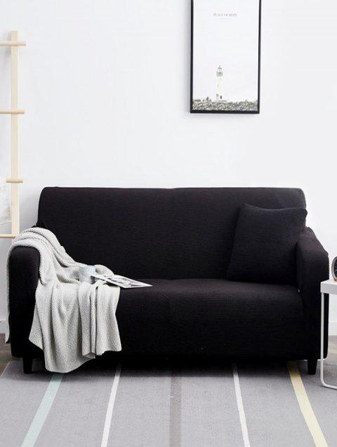 Durable Simple Solid Color Couch Cover - CARBON GRAY TWO SEATS