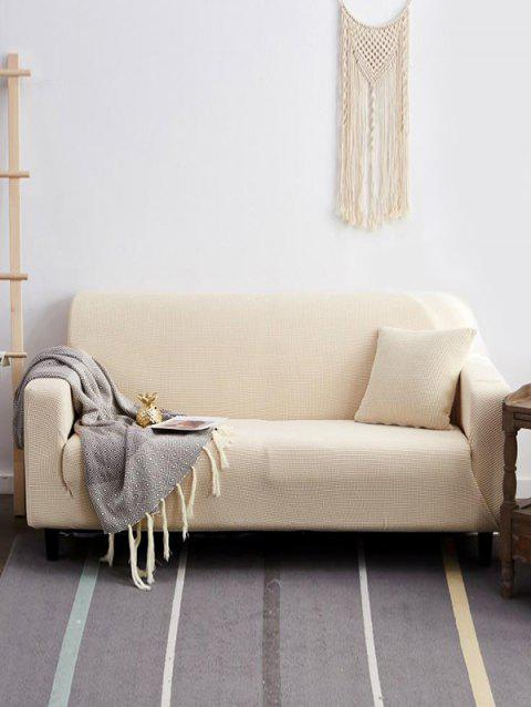 Durable Simple Solid Color Couch Cover - WARM WHITE TWO SEATS