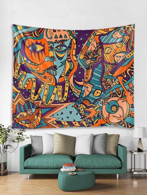 Abstract Style Pattern Wall Tapestry - multicolor W71 X L71 INCH
