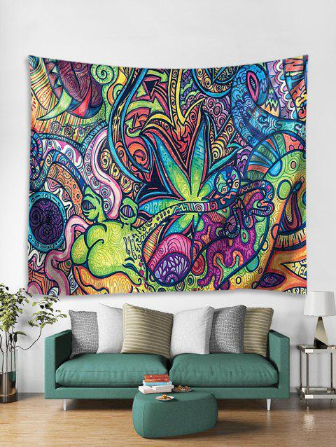 Bohemia Style Print Wall Tapestry - multicolor W71 X L71 INCH