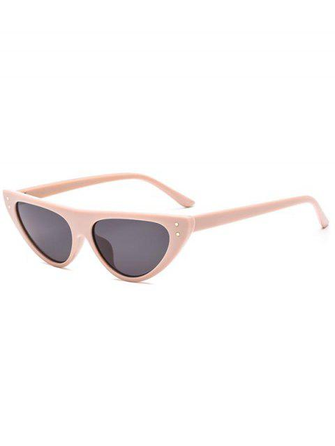Catty Eye Triangle Sunglasses - BLANCHED ALMOND REGULAR