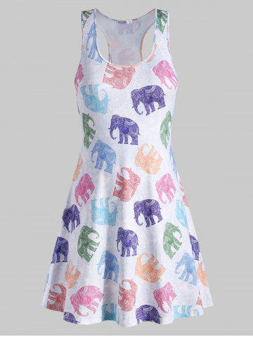 c657d3a4c0e Elephant Print Plus Size Racerback Dress