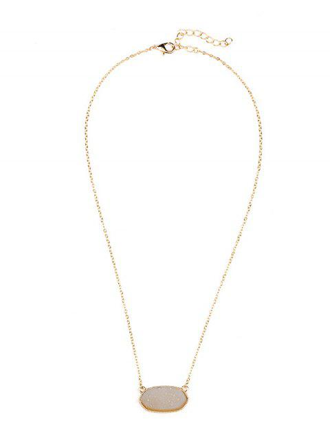 Geometric Natural Stone Necklace - CHAMPAGNE