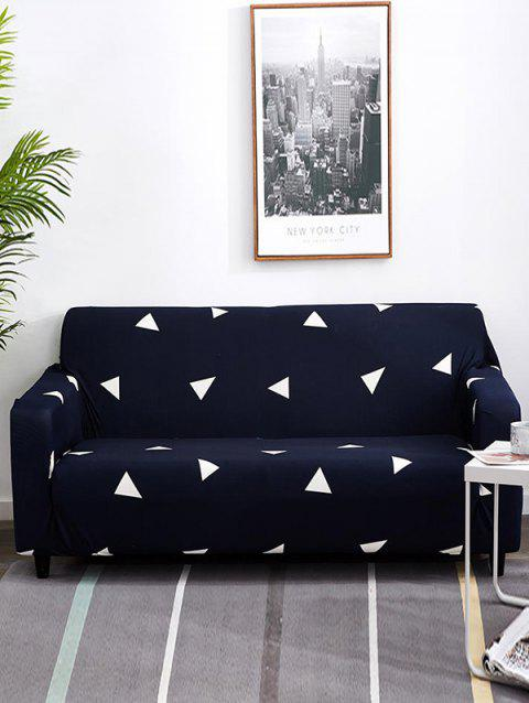 Triangle Graphic Print Couch Cover - MIDNIGHT BLUE TWO SEATS
