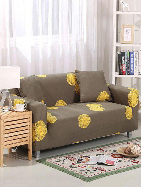 Daisy Print Couch Cover - WOOD TWO SEATS