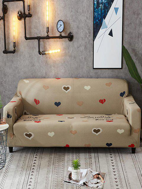 Heart Pattern Couch Cover - WOOD TWO SEATS