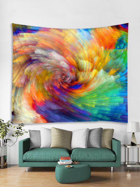 Colorful Vortex Print Tapestry Wall Hanging Art Decoration - multicolor W71 X L71 INCH