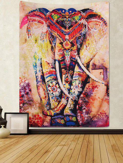 Elephant Pattern Design Wall Tapestry - SANDY BROWN W59 X L79 INCH