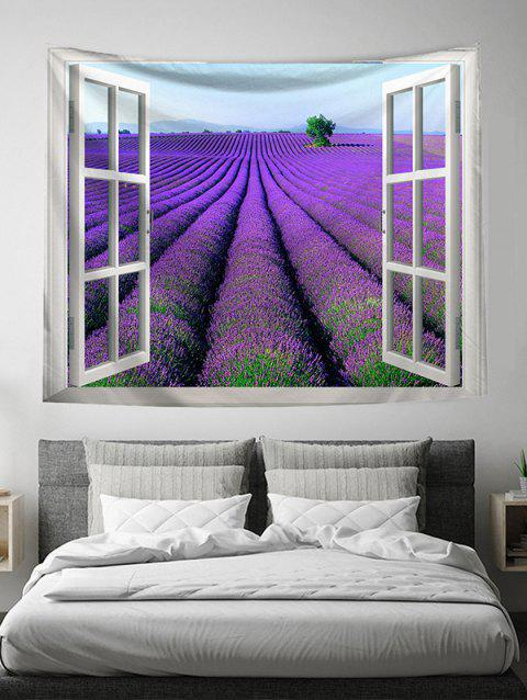 Window Violet Wall Art Tapestry - VIOLET W51 X L59 INCH