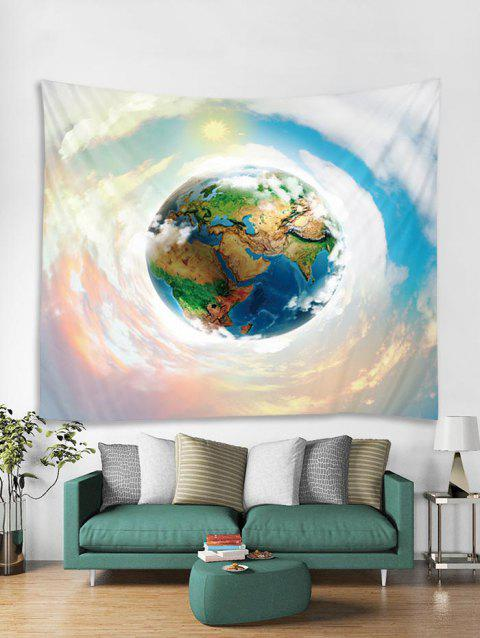 Earth Sky Print Art Decoration Wall Tapestry - WHITE W91 X L71 INCH