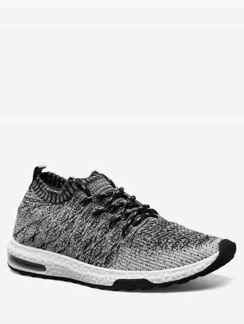 Casual Breathable Knit Sneakers - BLACK EU 40