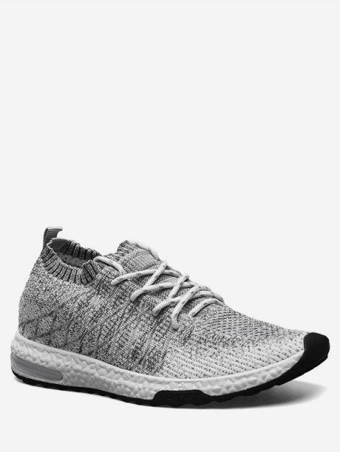 Casual Breathable Knit Sneakers - ASH GRAY EU 42