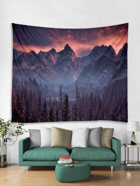 Snow Mountain Sunset Wall Tapestry - PURPLE W79 X L59 INCH