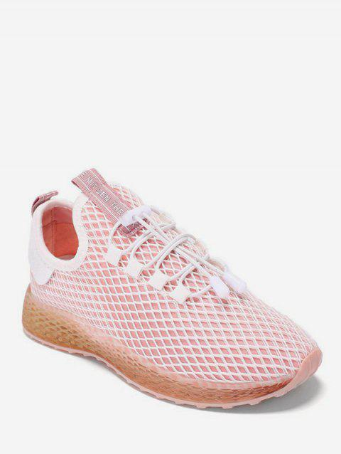Fishnet Breathable Sneakers - PINK EU 38