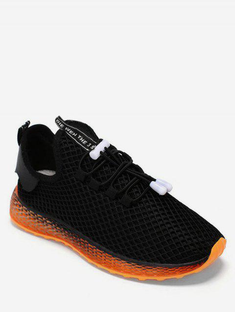 Fishnet Breathable Sneakers - BLACK EU 39