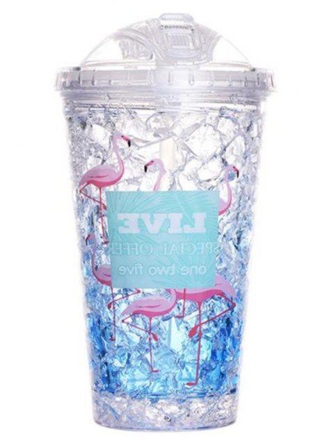 Flamingo Double-layer Portable Refrigeration Ice Cup - SKY BLUE