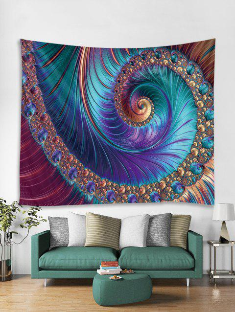 Spiral Pattern Print Art Decoration Wall Tapestry - PURPLE W59 X L51 INCH