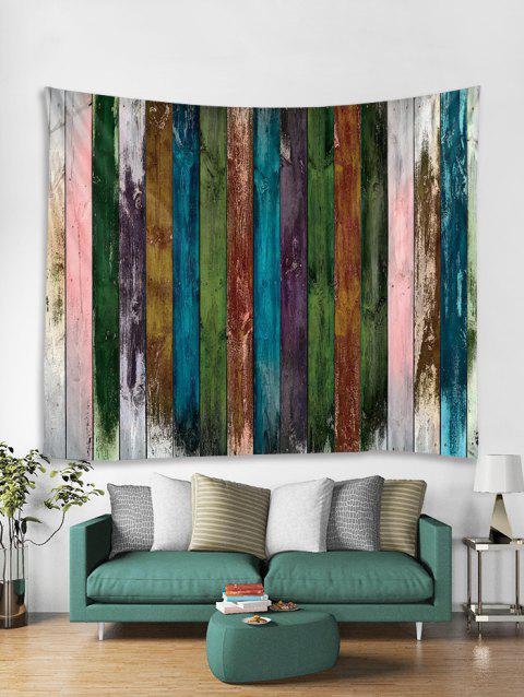 Paint Plank Print Art Decoration Wall Tapestry - DARK FOREST GREEN W59 X L59 INCH