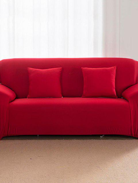 Solid Color Pattern Couch Cover - RED TWO SEATS
