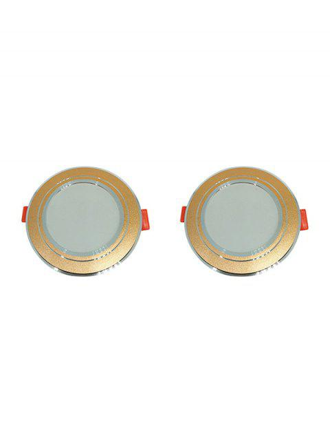 2PCS 5W 220V Long Lifespan High Brightness LED Downlight - BRONZE 5700K-6500K