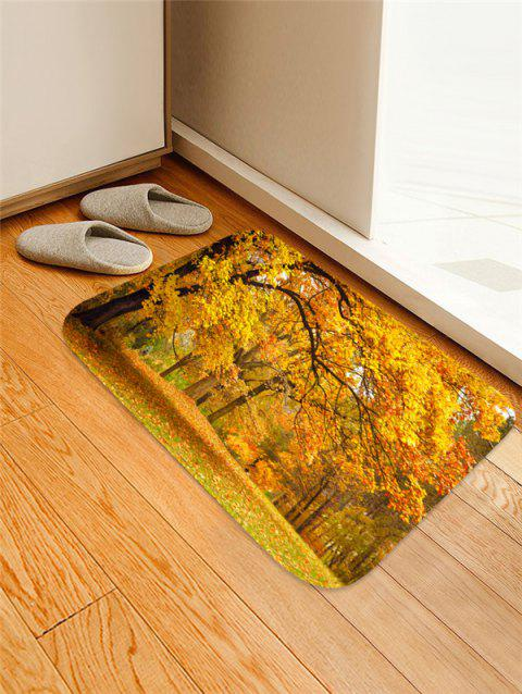 Maple Forest Pattern Water Absorption Area Rug - GOLDEN BROWN W16 X L24 INCH