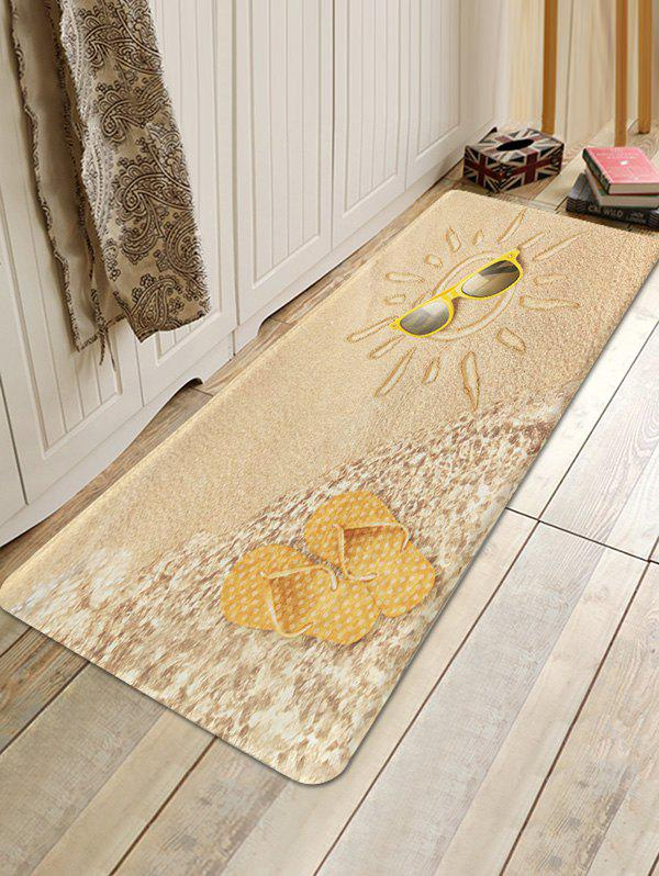 Beach Sun Design Floor Mat - multicolor A W24 X L71 INCH