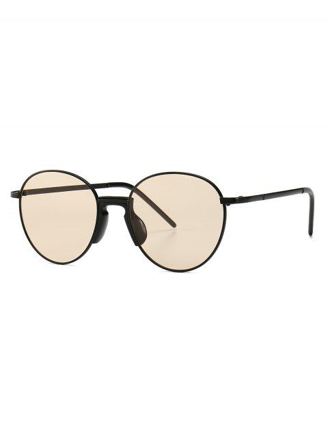 Metal Vintage Round Sunglasses - CHAMPAGNE GOLD