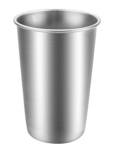 500ML Portable Stainless Steel Cup - SILVER