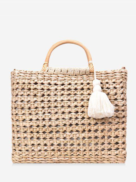 043062a6cce4c 41% OFF] 2019 Beach Style Straw Handbag In KHAKI | DressLily