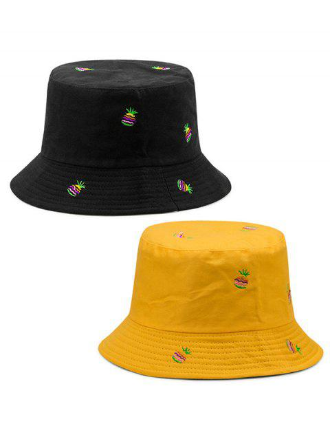 Double-side Wearable Pineapple Fisherman Hat - YELLOW