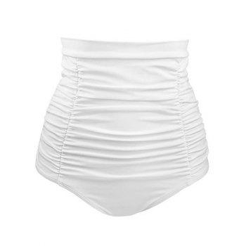 High Waist Ruched Swim Bottoms
