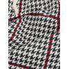 Houndstooth Pattern Casual Jogger Pants - RED XL